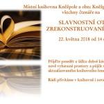 Knihovna - pozvánka